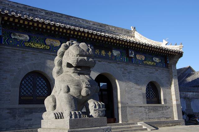 """图4  兴隆寺,当地人称""""南大庙"""""""