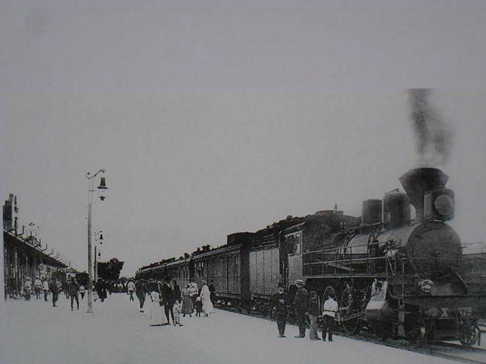 哈站中东铁路时期的旅客列车