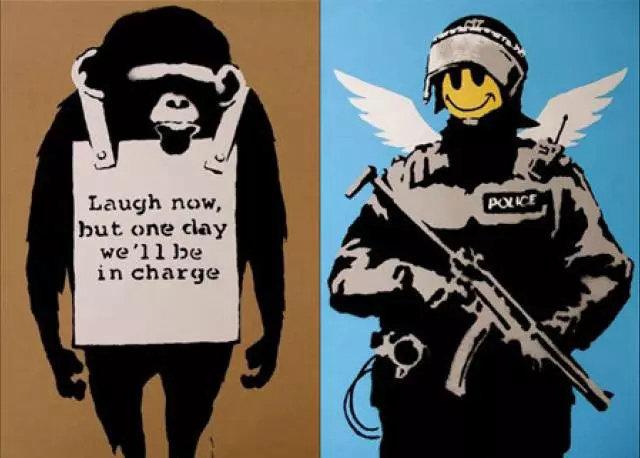 至今为止无人知晓班克斯的真实面目,但这丝毫不影响他成为迄今为止最受欢迎的街头艺术家