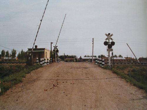 当年安葬傅景春烈士的滨洲线29公里道口(笔者拍摄)