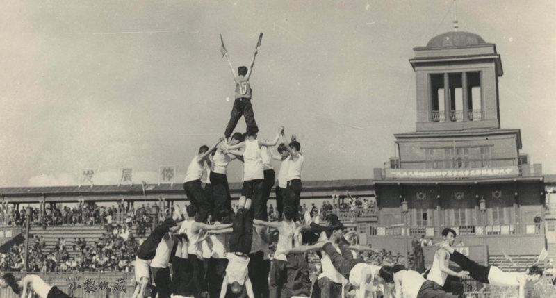 1959年哈尔滨市中等学校学生田径运动大会在道外八区体育场举行