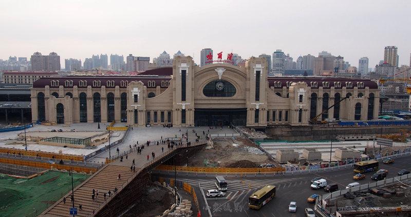 2019年哈尔滨火车站站前